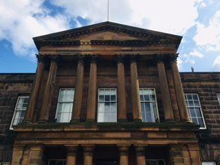 Facade of Falcon Hall