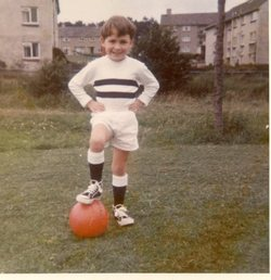 Young boy with football, Oxgangs