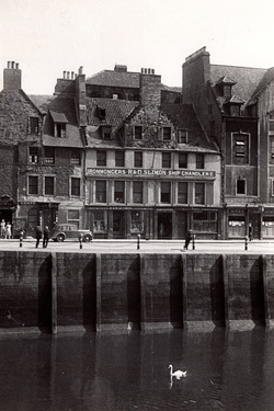 Old Tenements And Businesses By The Shore c.1960
