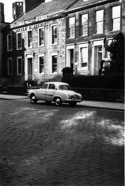 Car Parked Outside Houses On Queen Charlotte Street c.1960