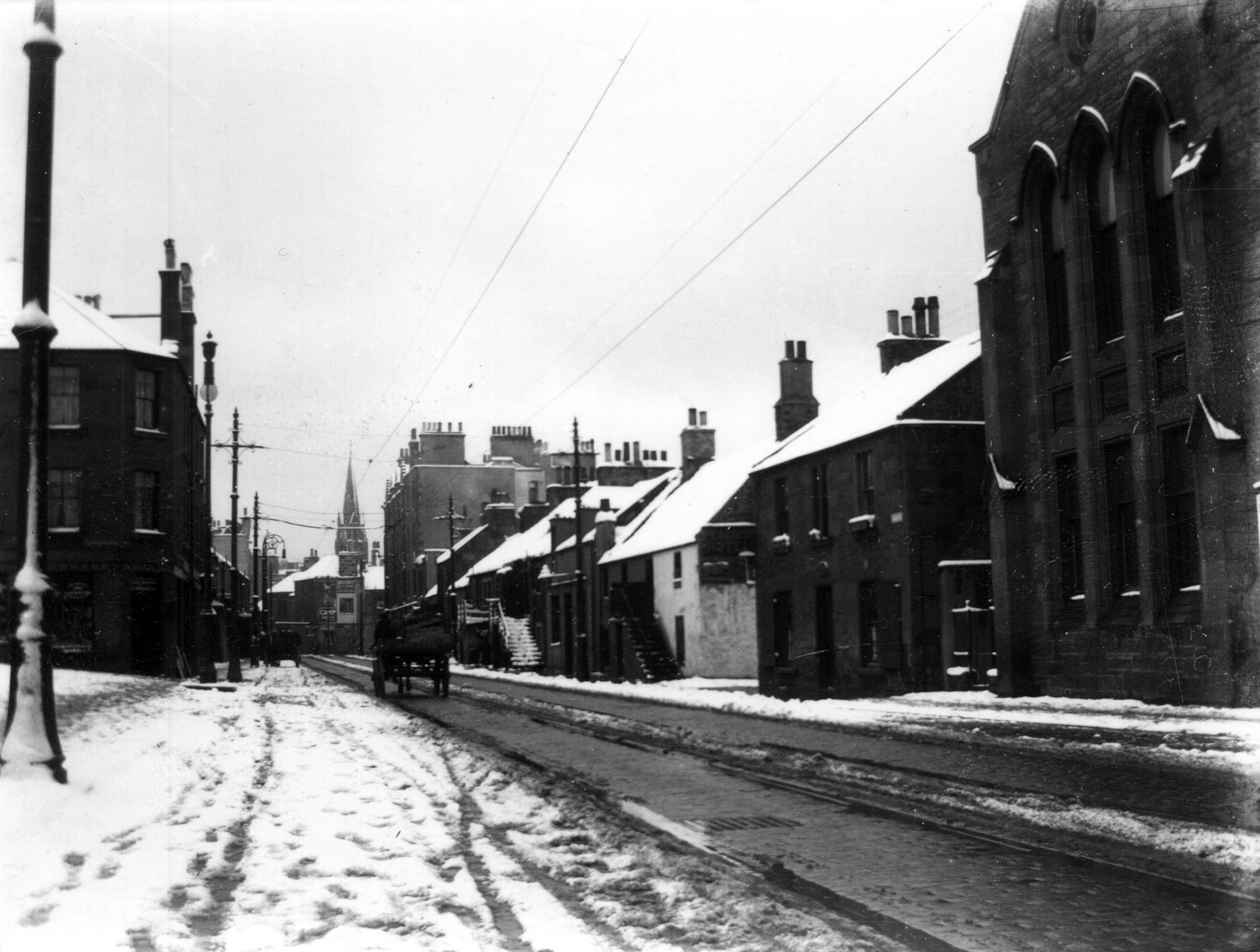 Annfield Looking West Toward Main Street In The Snow c.1960