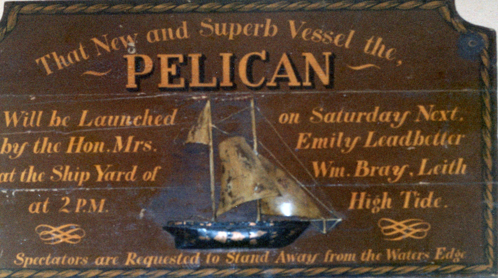 Sign From A Pub Interior In The Netherlands c.2000