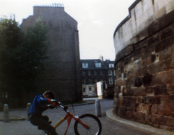 Boy Pulling Wheelie On Bike At Crown Street c.1990