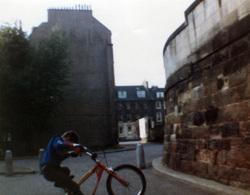 Boy Pulling Wheelie On Bike At Crown Street c.1990
