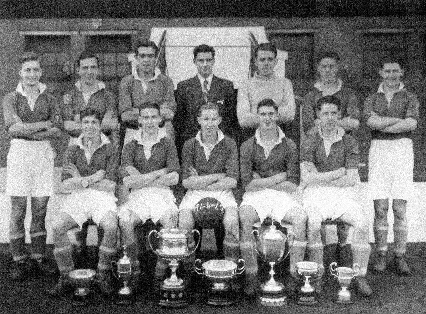 Edinburgh Thistle Football Club Team, Players Insurance Cups and Manclark Tournament 1945