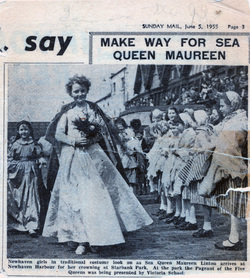 Newspaper Cutting Of Newhaven Sea Queen, June 1955