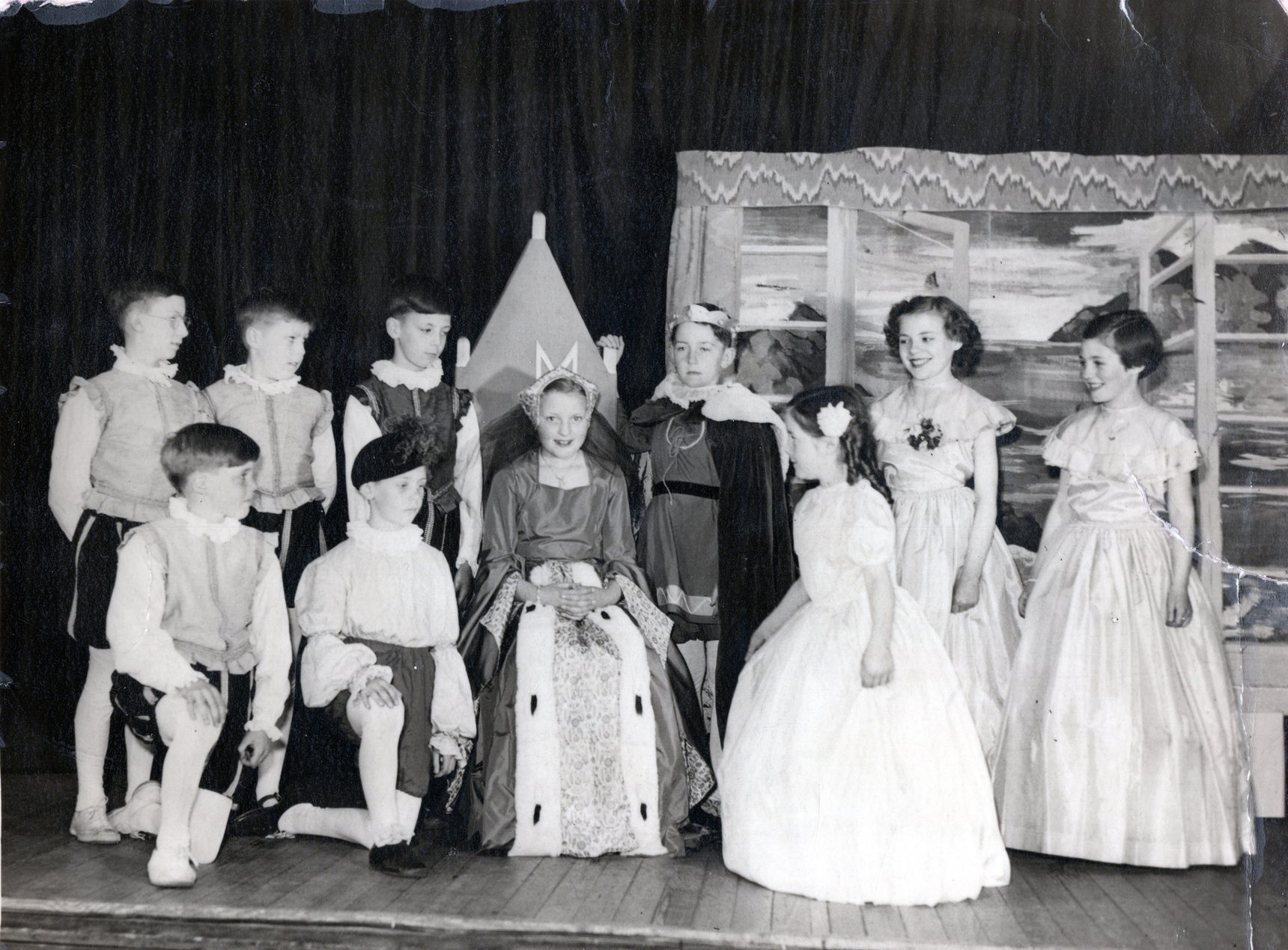 Newhaven Gala Queen And Entourage At Victoria School, June 1955