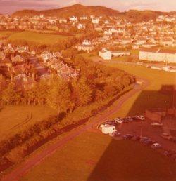 View across Oxgangs towards Pentland Hills