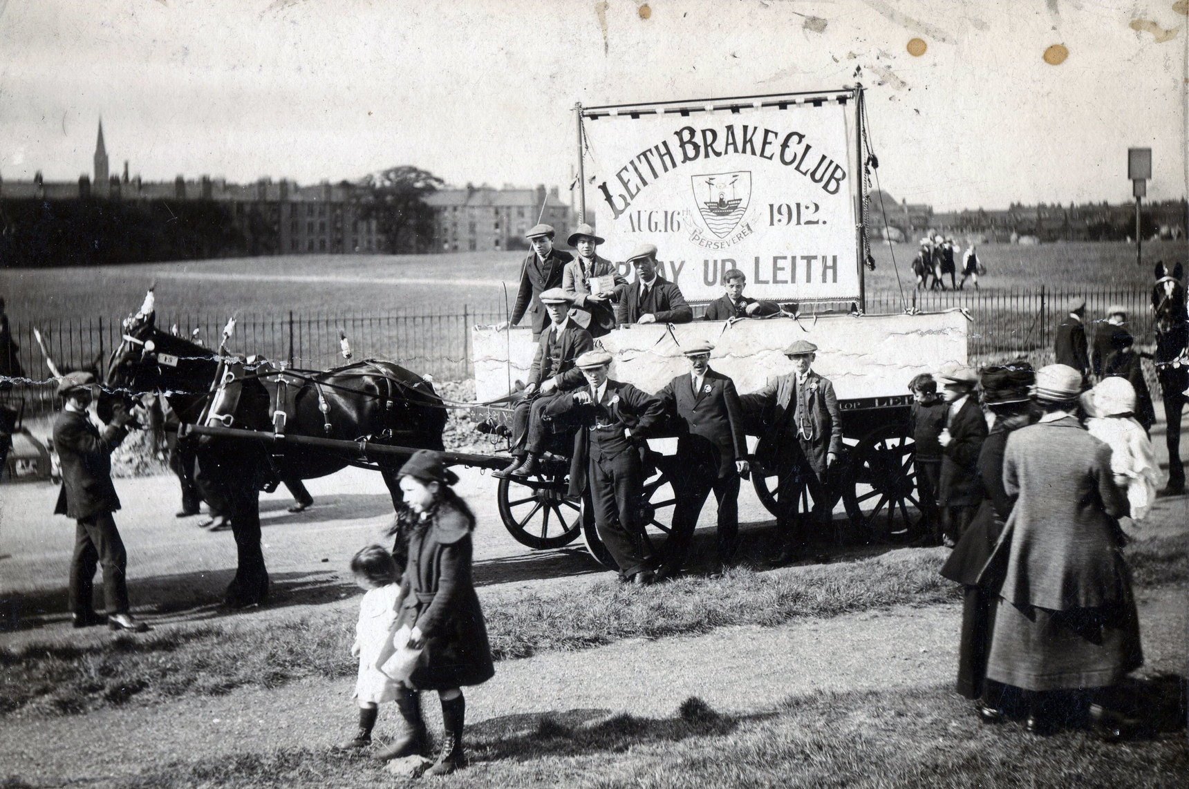 Leith Brake Club Float At Edinburgh Infirmary Pageant 1921