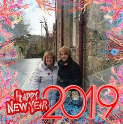 """Margaret Lee converted our photo into a """"Happy New Year 2019"""" card."""