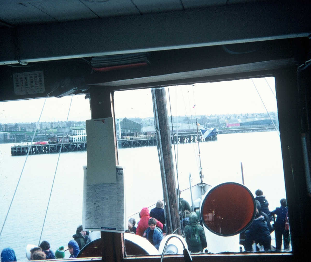 View From PS Waverley On Approach To Granton Harbour 1980s