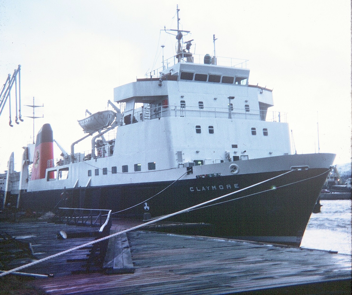 The Caledonian MacBrayne Ferry MV Claymore In For Service At Henry Robb's Shipyard 1980s
