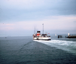 The PS Waverley Leaving Granton Harbour On Cruise To Burntisland 1980s