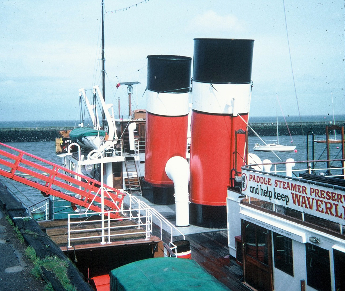 The PS Waverley At Granton Harbour 1980s