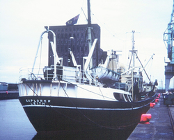 "Steam Trawler ""SS Explorer"" At Leith Docks 1960s"