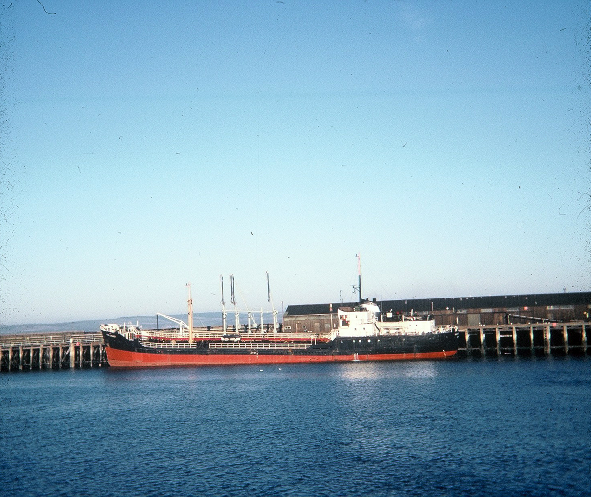 Tanker At Granton West Pier 1960s