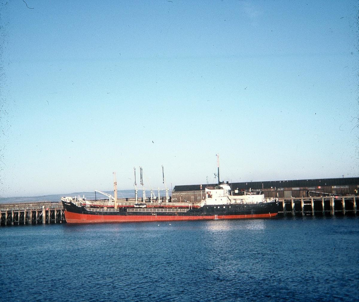 Tanker At Granton West Pier 1960s