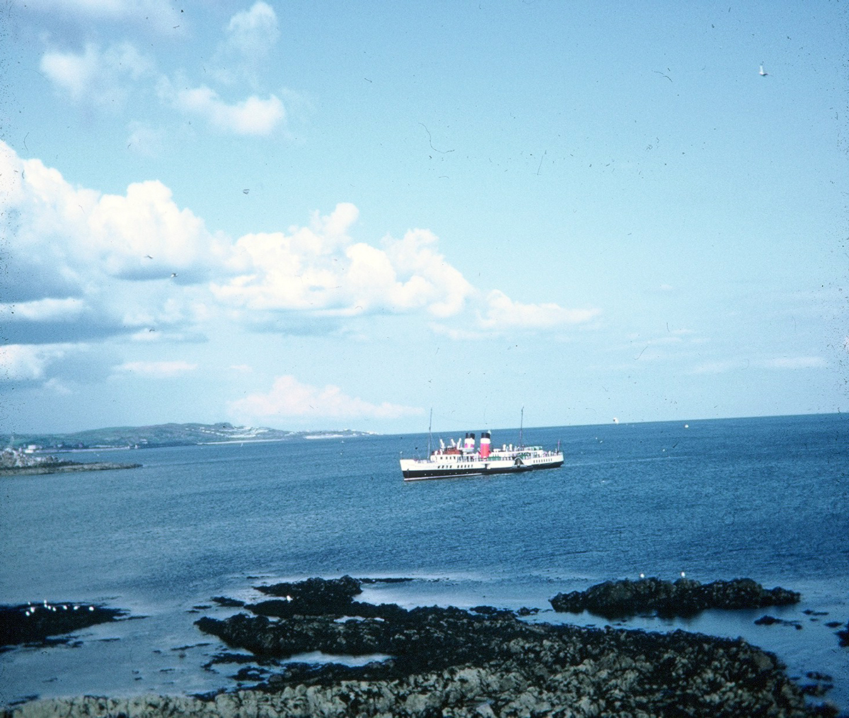 The PS Waverley Off The Shore Of Inchcolm 1980s