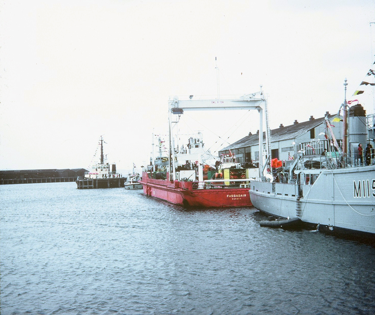 Granton Harbour On Last Public Open Day 1960s