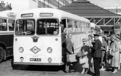 Passengers Boarding London To Edinburgh Coach At Victoria Bus Station 1950s