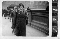 Woman Walking Down North Bridge 1930s