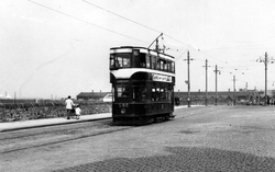 Tram Passing Newhaven Harbour 1950s