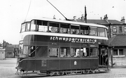 Tram At Granton Square 1950s