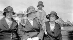 "Group Of Women On Board The ""Willie Muir"" Ferry 1930s"