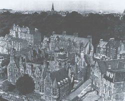 This was the Dean Village before the Tenements on Dean Path were Demolished.