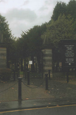 The Dean Cemetery located at the top of the Dean Village.