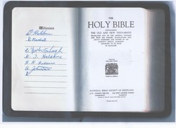 Our Holy Bible lists our 6 witnesses as shown on the left of the page