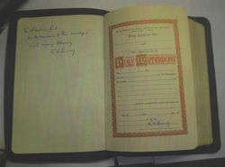 "Inside cover says ""To Robert and Gail on the occasion of their marriage with every Blessing G. A. Young"""