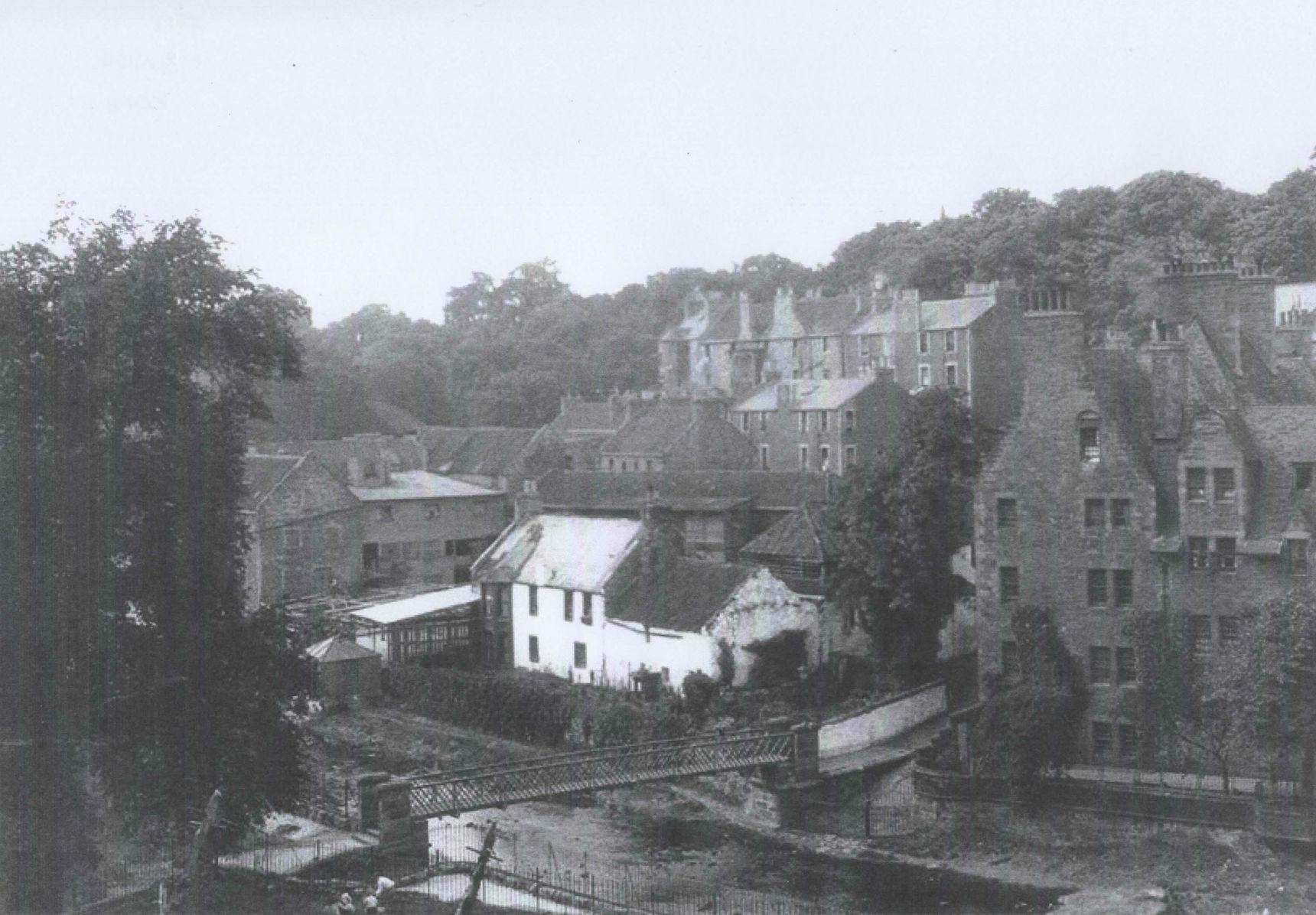 1943 - This photo shows the North West side of the Dean Village.