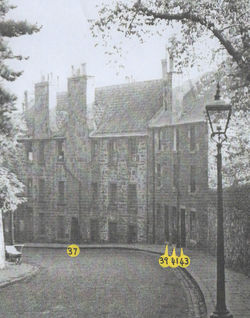 1962 - The yellow dots show the Dean Path Main Door & Stair Numbers.