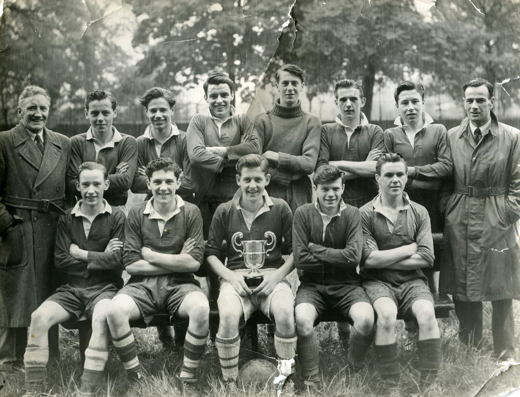 St Andrews Ravelston Football Team With The Brown Cup 1949
