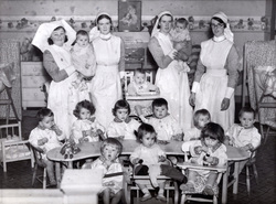 Nurses With Children At Day Care Nursery 1934