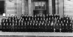Boys Brigade Leith Officers Outside Leith Public Library 1975