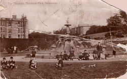 Children Sitting Around The Devlin Fountain In Starbank Park c.1910