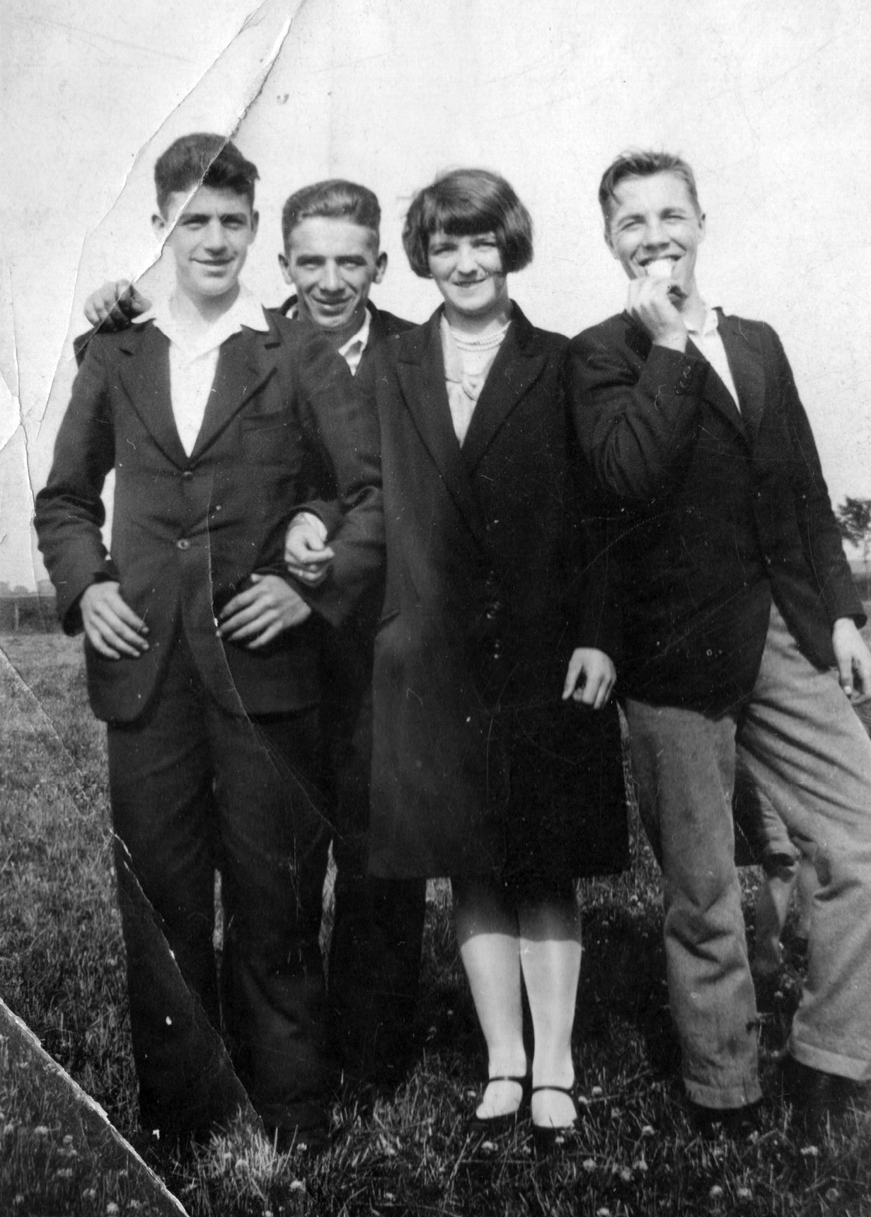 Young Couple With Friends At Newcraighall Park 1920s
