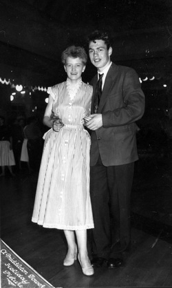 Young Couple On The Dance Floor At Butlins c.1950