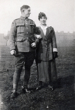 Brother And Sister Arm In Arm c.1918