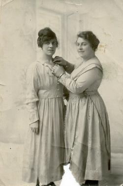 Studio Portrait Two Women 1910s