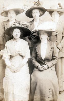Studio Portrait Five Women 1910s