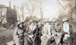 Young Men And Women Sitting In The Park c.1918