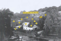 The yellow markers show the Dean Village as it was, before, the major changes