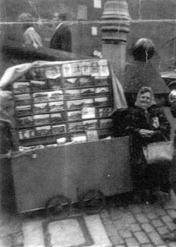Postcard Seller Agnes Nolan At Her Stall By The Castle 1960s