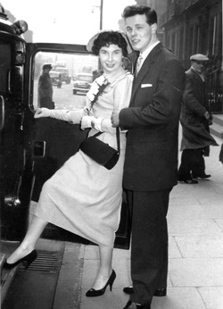 Newly Wed Couple Stepping Into Taxi On West Maitland Street, 1st March 1957