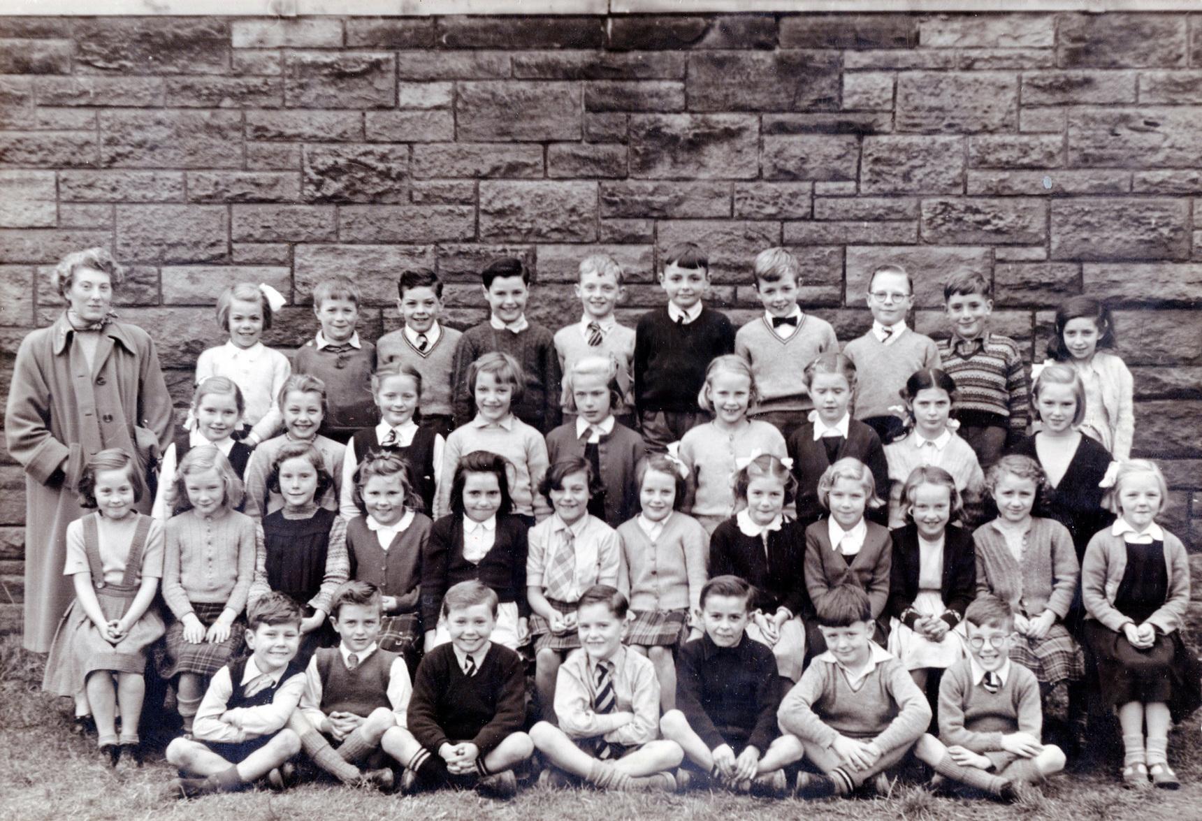 Flora Stevenson School Class Portrait 1954