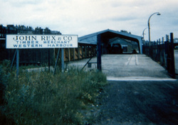 Entrance To John Rex & Co Timber Merchant At Western Harbour c.1965