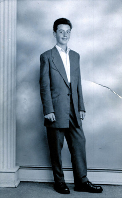 Studio Portrait Young Man In Drape Suit, August 1956